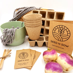 Seed n Sow Signature Seed Kit - Organic Herbs, Fruit and Vegetables