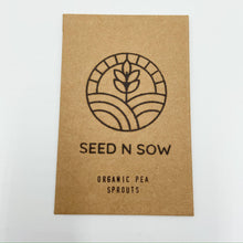 Load image into Gallery viewer, Organic Pea Sprout Seeds-Seeds-Seed n Sow