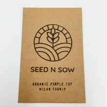 Load image into Gallery viewer, Organic Turnip Seeds-Seeds-Seed n Sow