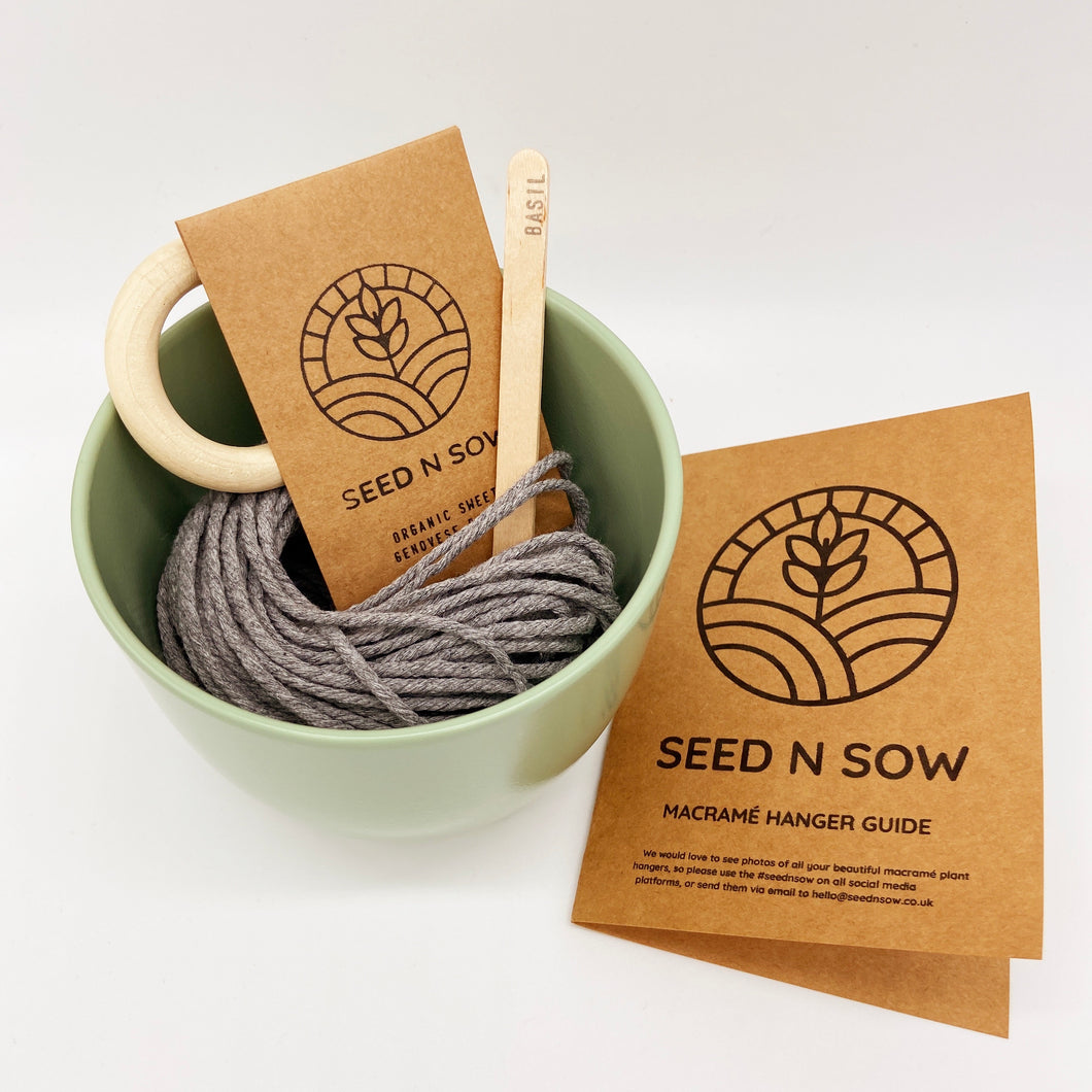 Seed n Sow Make Your Own Macrame Hanger Seed Kit