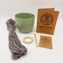 Load image into Gallery viewer, Seed n Sow Make Your Own Macrame Hanger Seed Kit