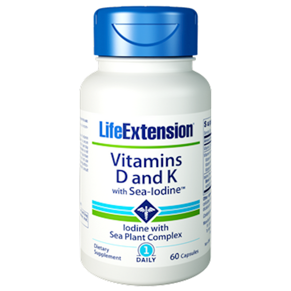 Vitamins D & K with Sea-Iodine
