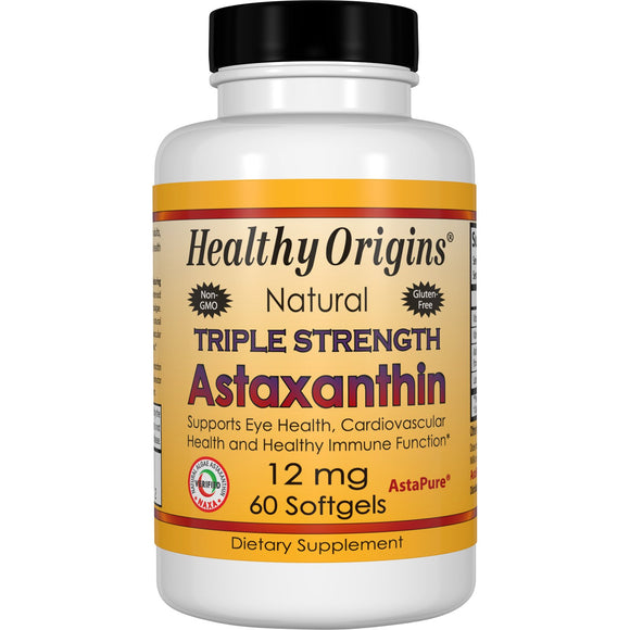 Astaxanthin (Complex), Triple Strength, 12mg 60 Soft Gels