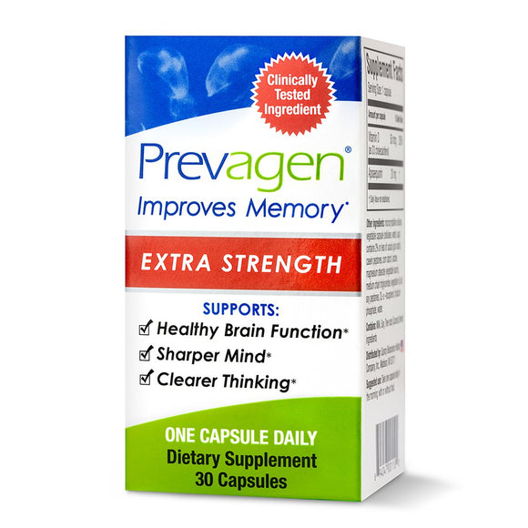 Prevagen Extra Strength 30 Capsules - Apoaequorin & Vitamin D, Promotes Healthy Aging, Memory Support