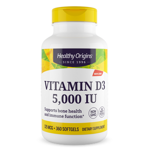 Vitamin D-3 5,000 iu 360 Softgels