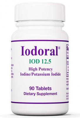 Iodoral 12.5 mg 90 Tablets - Thyroid Support Supplement with Iodine