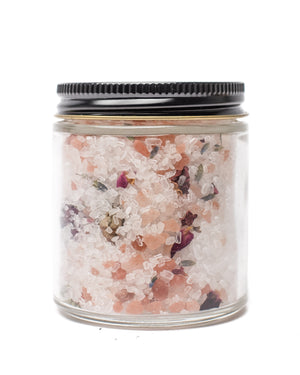 Lavender + Pink Himalayan Salts Crystal Infused Bath Soak