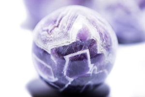 Load image into Gallery viewer, Chevron Amethyst Sphere