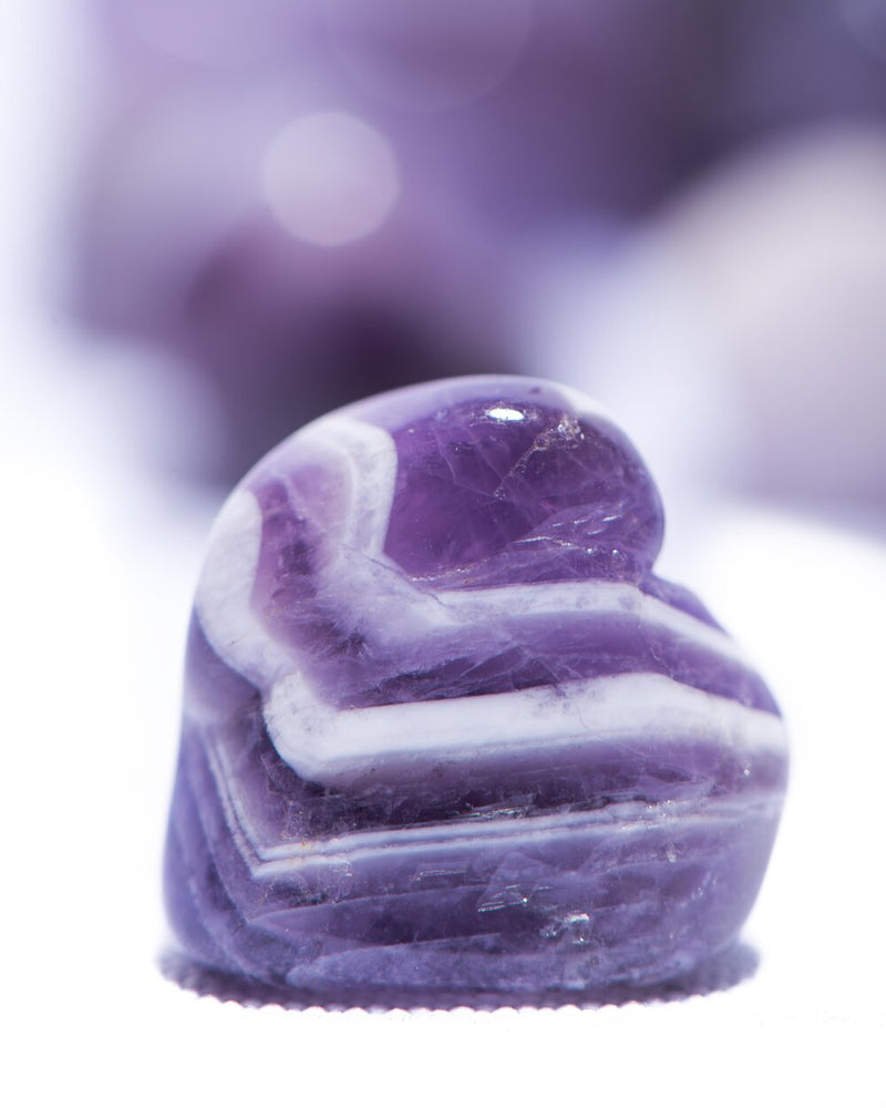 Chevron Amethyst Tumbled