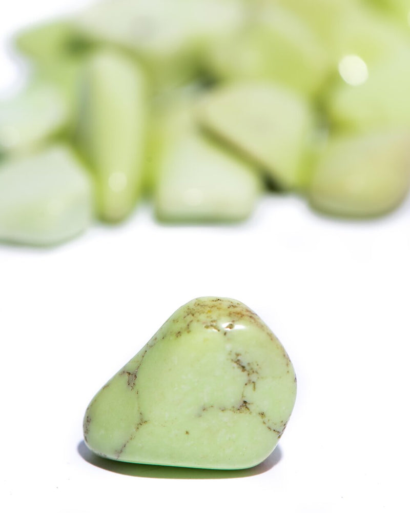 Load image into Gallery viewer, Lemon Chrysoprase Tumbled