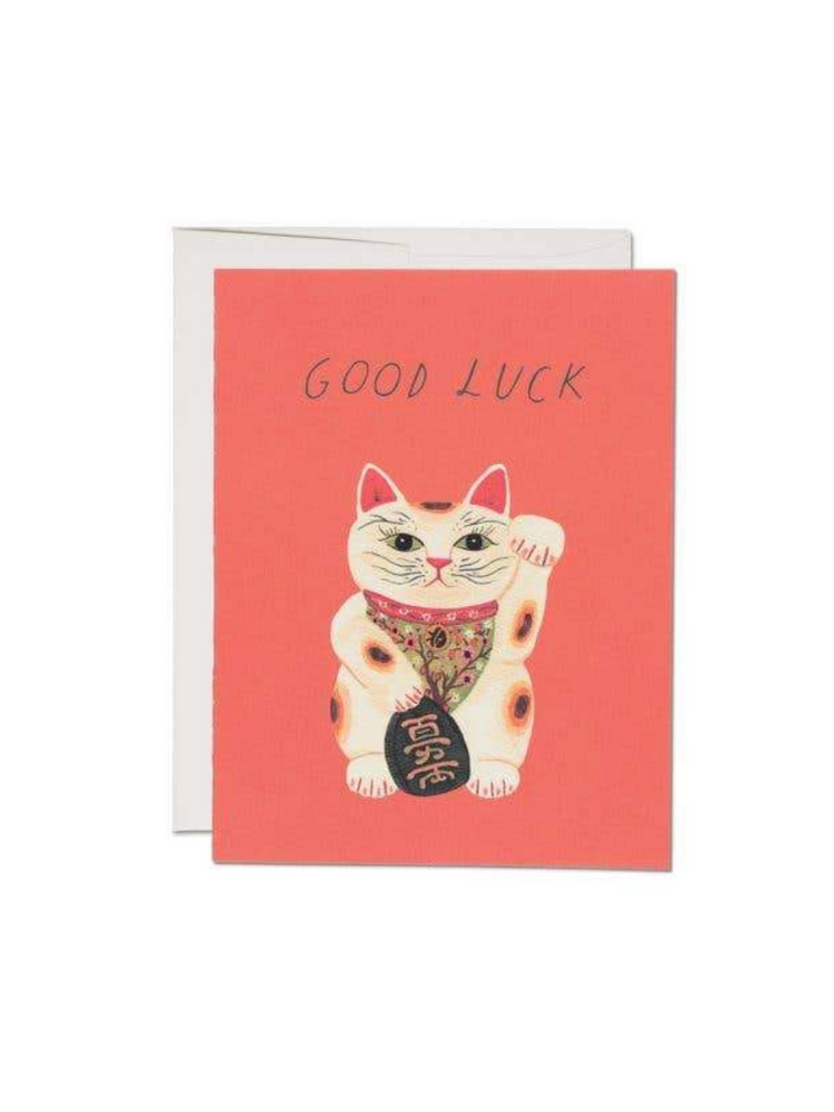 Good Luck Kitty Greeting Card