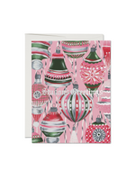 Retro Ornaments Seasons Greetings Card