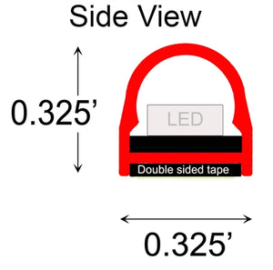 SUPER-BRIGHT FLEXIBLE LED LIGHT STRIPS - AMPD Z-FLEX - RED