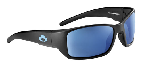 POLARIZED SUNGLASSES: BIG CREEK | MATTE BLACK-PACIFIC BLUE | NYLON