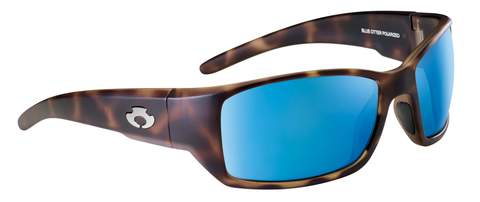 POLARIZED SUNGLASSES: BIG CREEK | DRY MAPLE-COBALT BLUE
