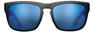 POLARIZED SUNGLASSES: CUMBERLAND | MATTE BLACK-PACIFIC BLUE | NYLON