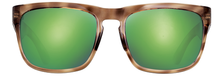 Load image into Gallery viewer, POLARIZED SUNGLASSES: CUMBERLAND | RAW HONEY-PALM GREEN | NYLON