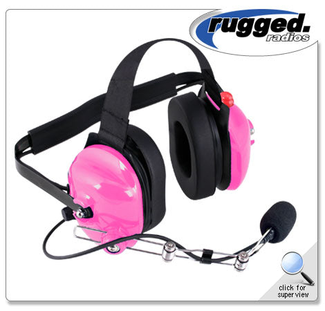 H42 Pink 2-Way Radio Headset w/ PTT
