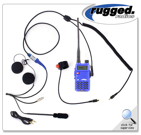 RH5R 2-Way UHF/VHF 5 Watt Radio Communication Kit