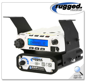 Below Dash RM-60, RM-100, RM-50 or RM-45 and Intercom Mount for Polaris RZR XP1000