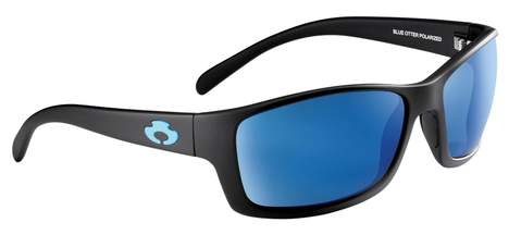 POLARIZED SUNGLASSES: OCONEE | MATTE BLACK-PACIFIC BLUE | NYLON