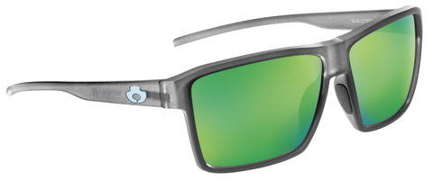 POLARIZED SUNGLASSES: WATAUGA | RIME GRAY-PALM GREEN | NYLON