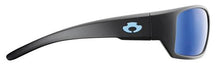 Load image into Gallery viewer, POLARIZED SUNGLASSES: BIG CREEK | MATTE BLACK-NIGHT BLUE | NYLON