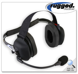 Rubberized 2-Way Radio Headset w/ PTT and Volume Control