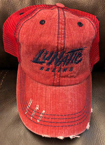 Lunatic Racing Hat - Pony Tail Relief Slot