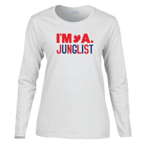 [PRE-ORDER] I'M A JUNGLIST Longsleeve Ladies Tee - 2 Colors - BEDLAM Threadz