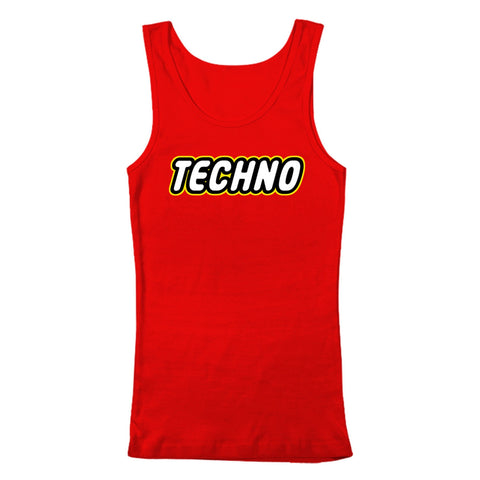 TECHNO - Tank Top - Red - BEDLAM Threadz