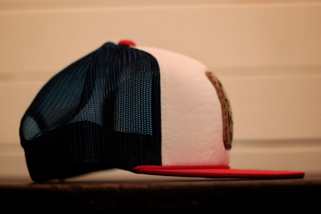 Red, White, and Blue Logo Hat