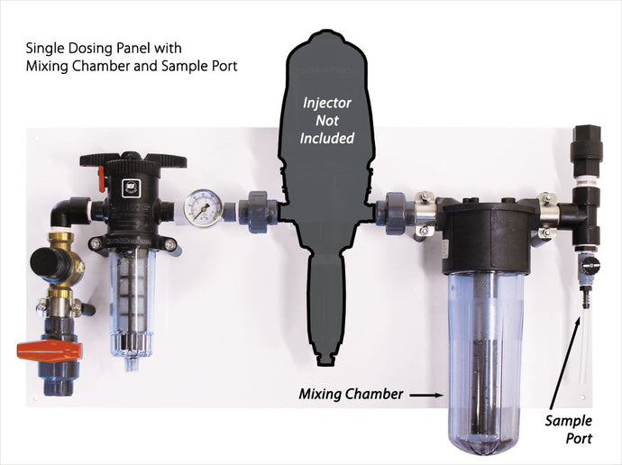 Single Dosing Panel With Mixing Chamber & Sample Port (Injector NOT Included)