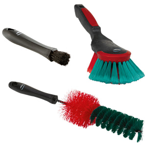 Vikan Interior & Exterior Brush Set w/ 3 Brushes, Transport Line - Black