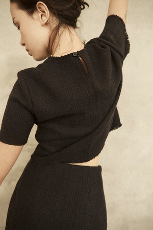 CROPPED TEE  //  RAW SILK