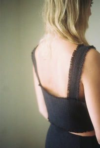 CROPPED SINGLET // RAW SILK