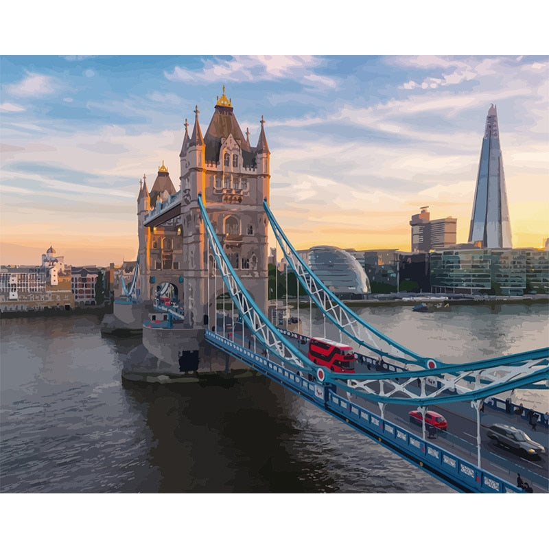 Londen Tower Bridge | Schilderen Op Nummer - Myth Of Art