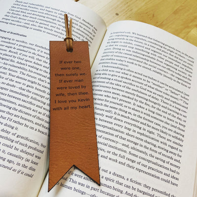 A personalized bookmark is a perfect gift for any student or bookworm in your life.  Personalize up to 90 characters.  Made with full grain leather.   Handmade in Austin, Texas!