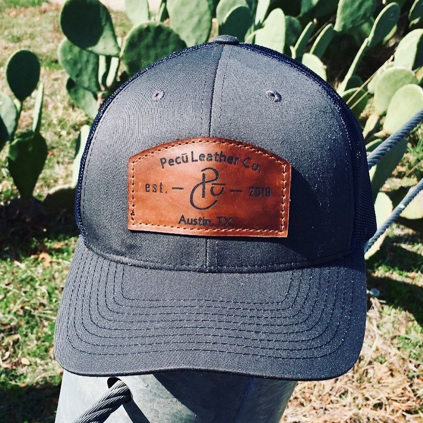 Pecu - Leather Patch Trucker Hat