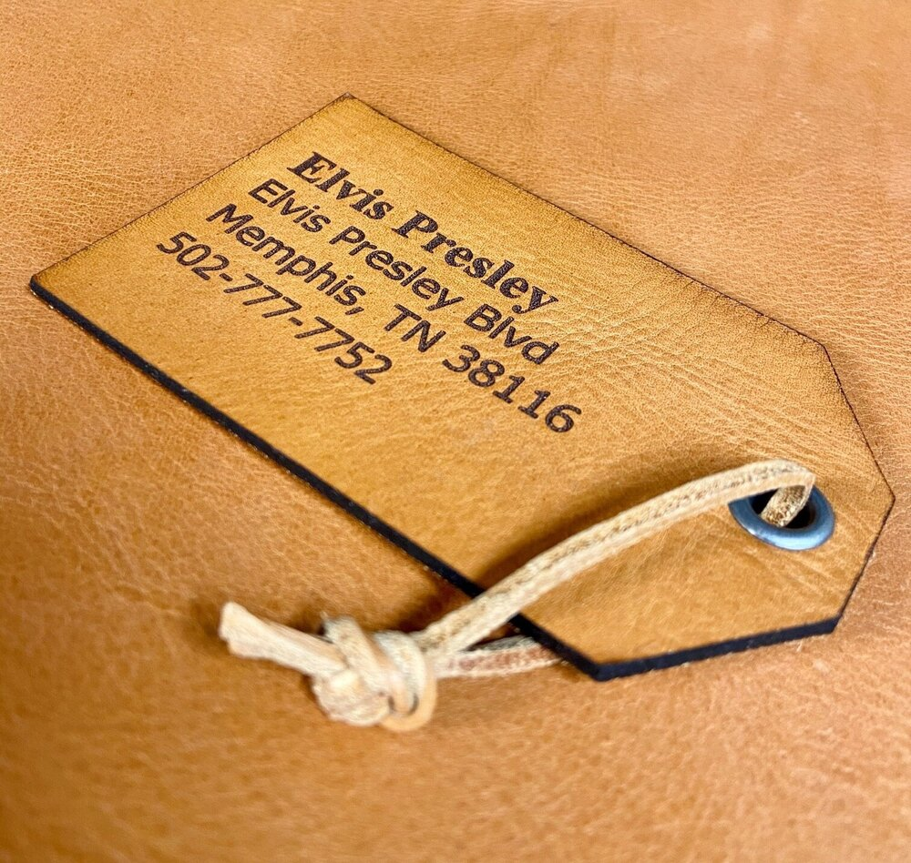 Personalized Leather Luggage Tag - Pecu Leather Co.