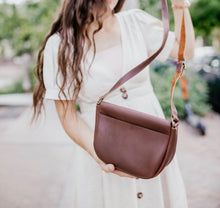 Load image into Gallery viewer, The Trinity - Brown Leather Crossbody Bag