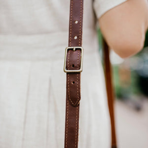 The Trinity - Brown Leather Crossbody Bag