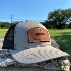 """Come and take it"" - Leather Patch Trucker Hat"