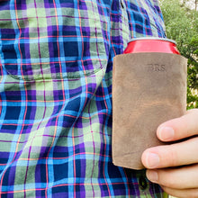 Load image into Gallery viewer, The Dickinson -Personizable Leather Koozie - Pecu Leather Co.