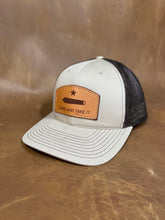 "Load image into Gallery viewer, ""Come and take it"" - Leather Patch Trucker Hat"