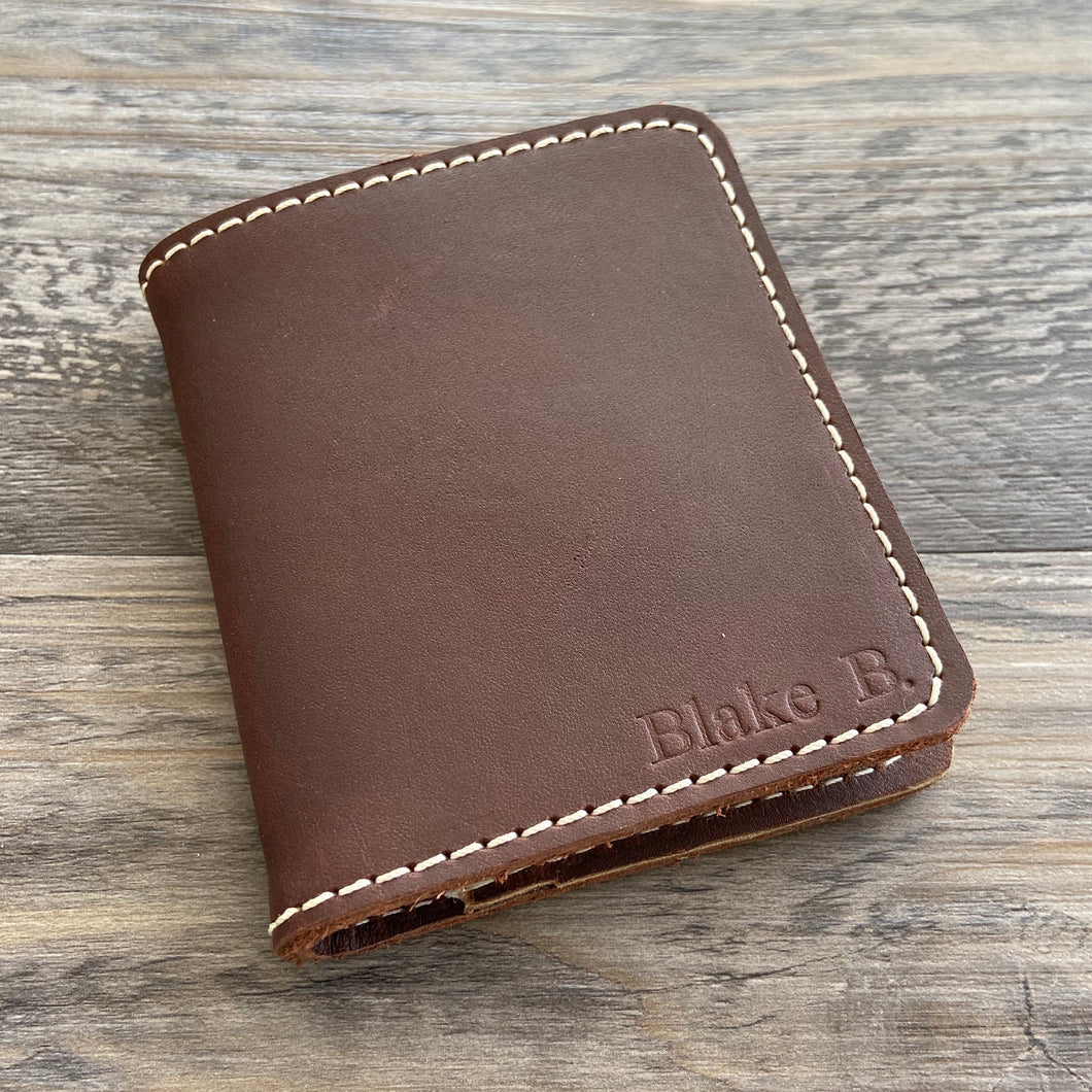 The Cahaba - Brown Leather Bifold Wallet - Pecu Leather Co.