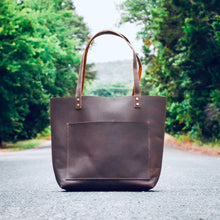 Load image into Gallery viewer, The Austin - Brown Leather Tote Bag