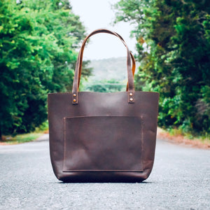 The Austin - Brown Leather Tote Bag