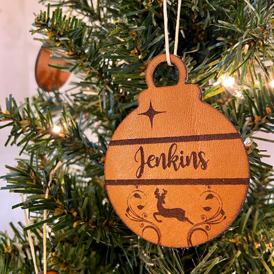 Personalized Christmas Tree Ornament - Pecu Leather Co.