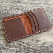 Load image into Gallery viewer, The Cahaba - Brown Leather Bifold Wallet - Pecu Leather Co.